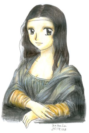 Mona Lisa Manga Style by Nisai