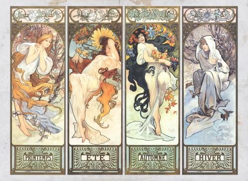 Les-Saisons by Alphonse Mucha