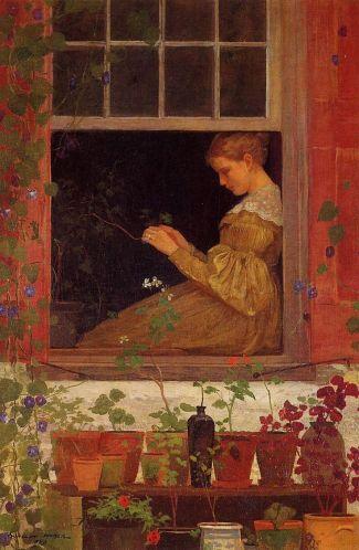 Pencerede Oturan Kadın - Anonim