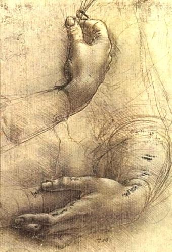 Study of Hands by Leonardo da Vinci