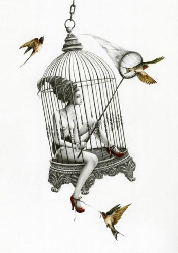 Birdcage Girl by Courtney Brimms