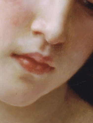 William-Adolphe Bouguereau, Head of a Young Girl (detail)