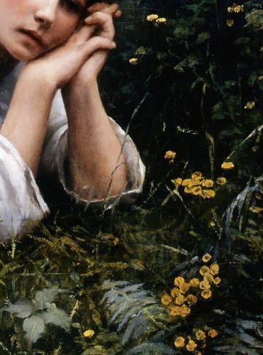 Rêverie (Détail) by Daniel Ridgway Knight