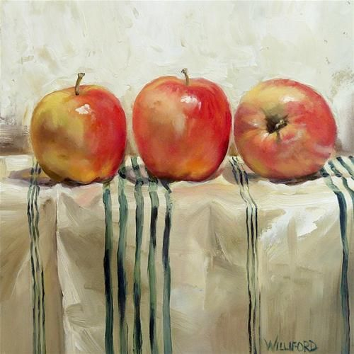 Three Apples by Kathleen Williford