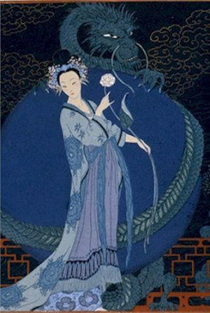 turandot opera illustration by georges barbier pochoir